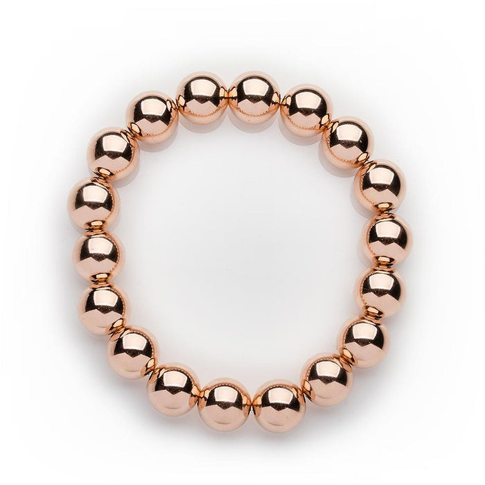 Classic Bracelet in 14k Rose Gold Filled 10mm Beads