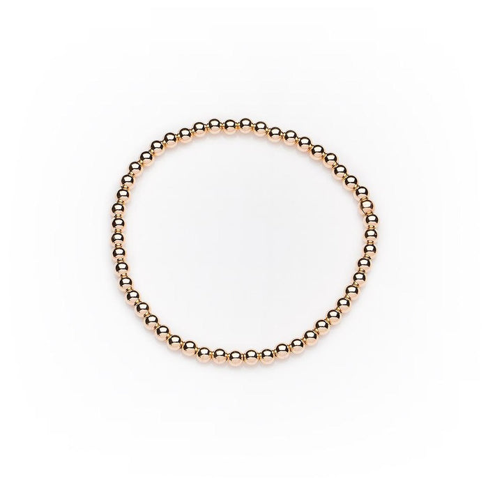 Classic Bracelet in 14k Rose Gold Filled 3mm Beads
