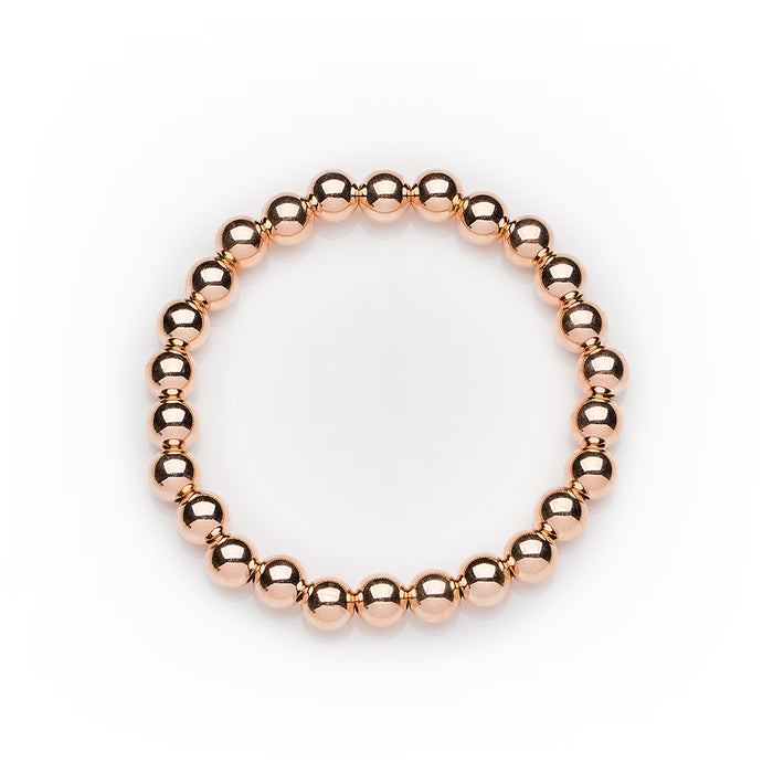 Classic Bracelet in 14k Rose Gold Filled 6mm Beads