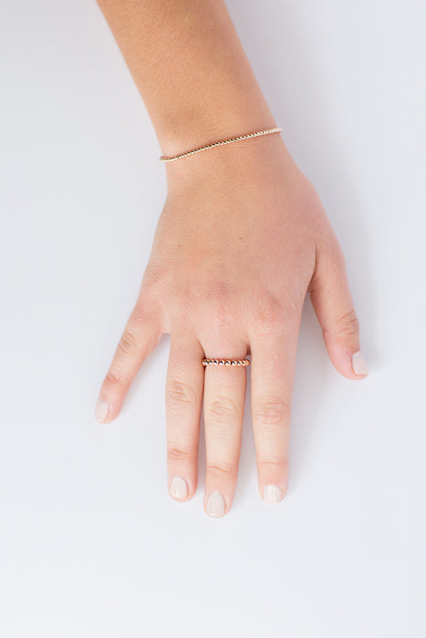 Classic Ring in 14k Rose Gold Filled 3mm Beads
