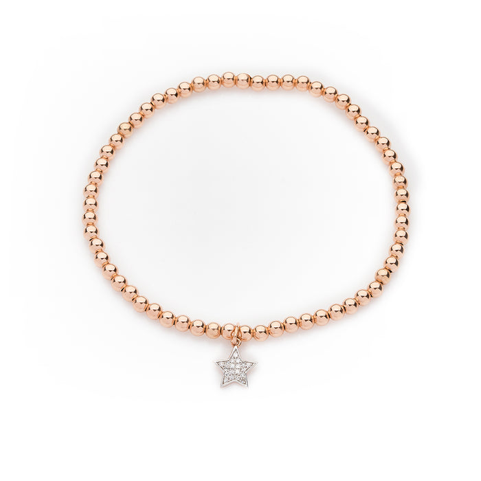 Pavé Diamond Star Bracelet in Rose Gold