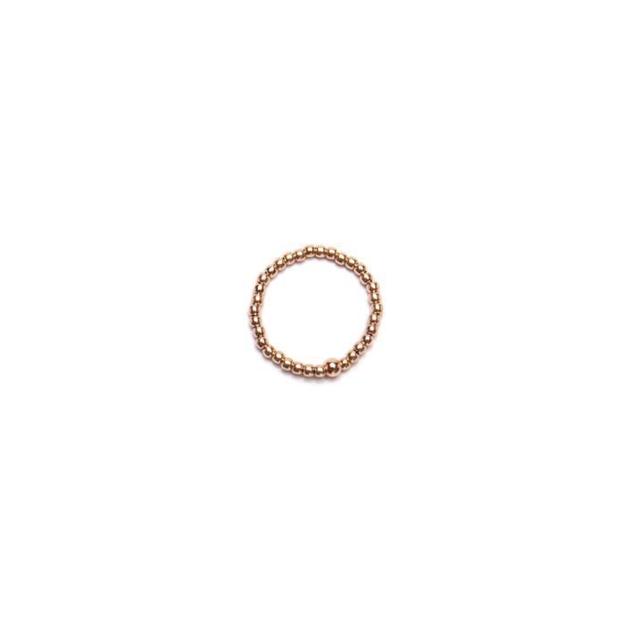 Classic Ring in 14k Rose Gold Filled 2mm Beads