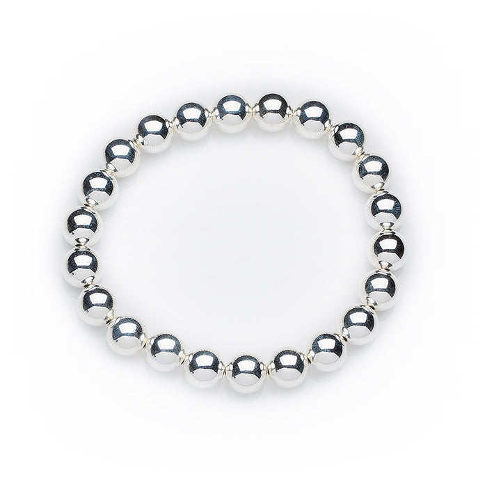 Classic Bracelet in Sterling Silver 10mm Beads