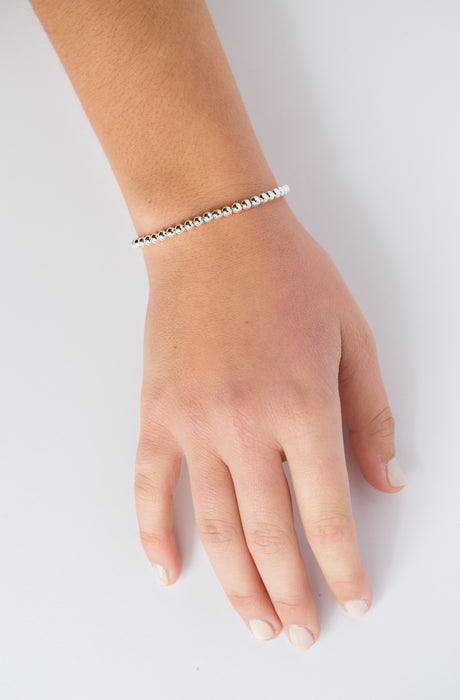 Classic Bracelet in Sterling Silver 4mm Beads