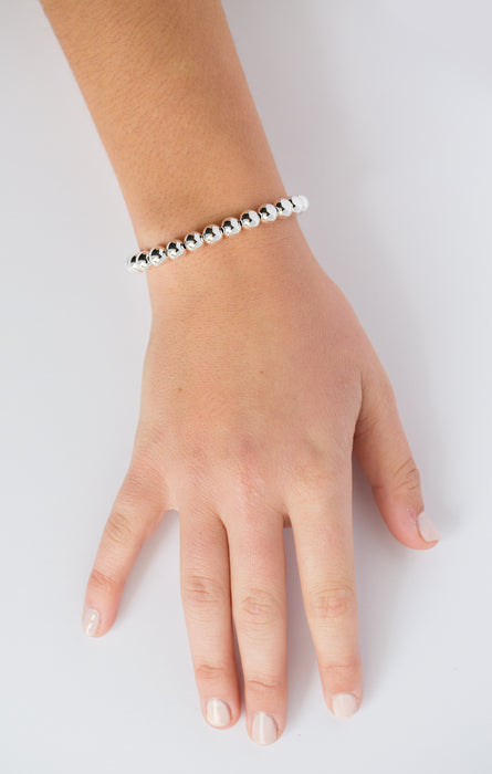 Classic Bracelet in Sterling Silver 7mm Beads