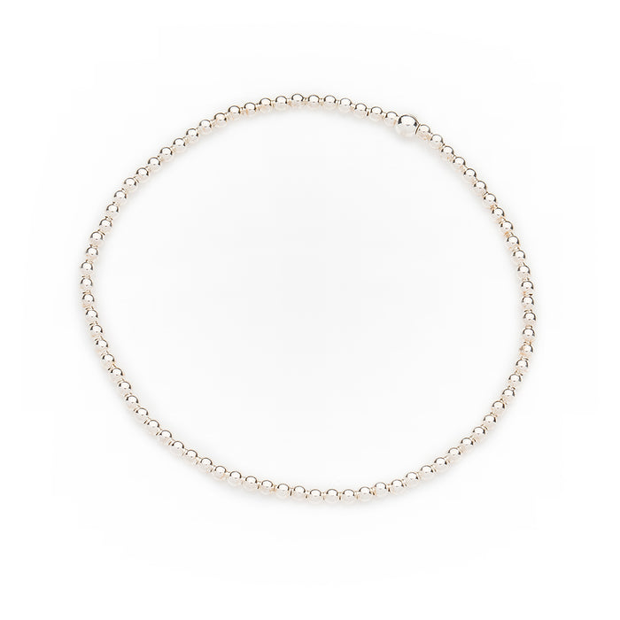 Classic Bracelet in Sterling Silver 2mm Beads