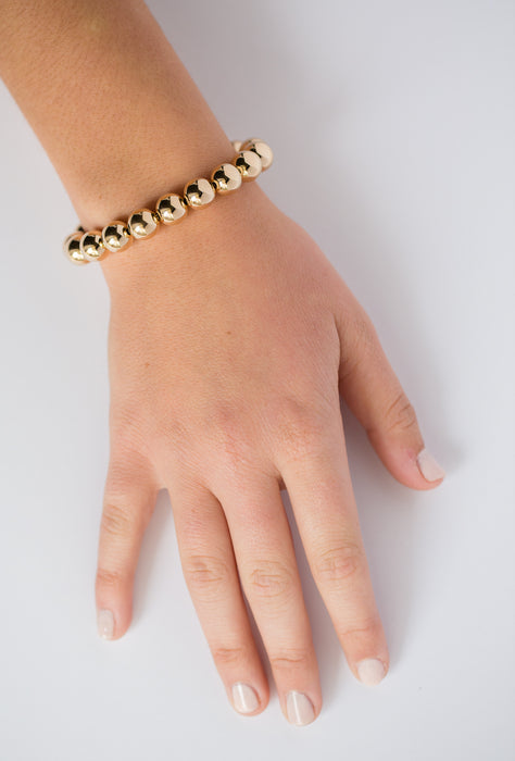 Classic Bracelet in 14k Yellow Gold Filled 10mm Beads