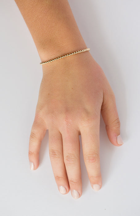 Classic Bracelet in 14k Yellow Gold Filled 3mm Beads