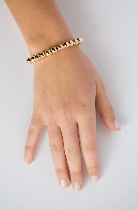 Classic Bracelet in 14k Yellow Gold Filled 8mm Beads
