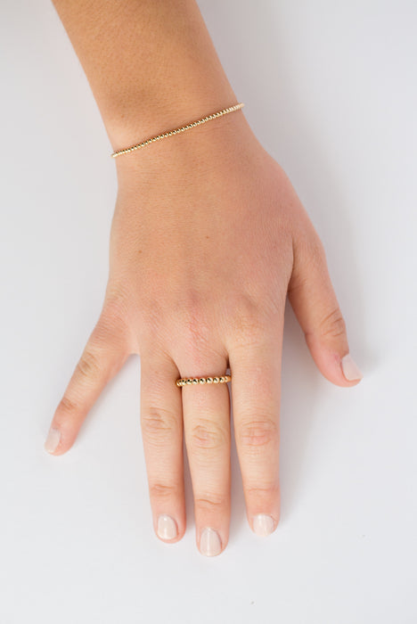 Classic Ring in 14k Yellow Gold Filled 3mm Beads