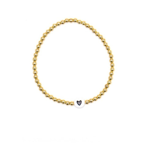 14k Yellow Gold Filled Bracelet with Heart Bead