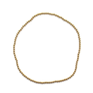 14k Yellow Gold Filled Necklace, 4mm Beads