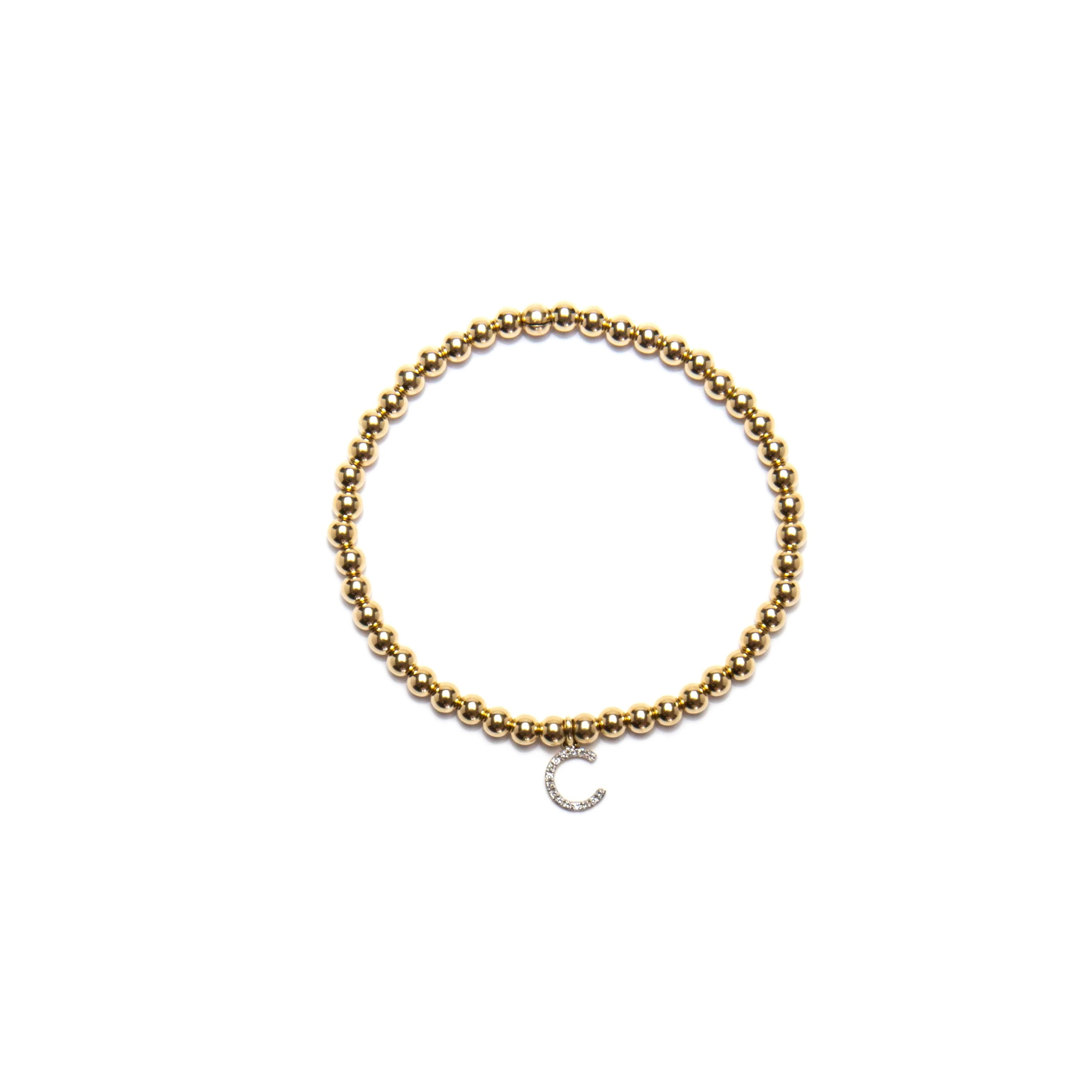 Child Diamond Letter Bracelet