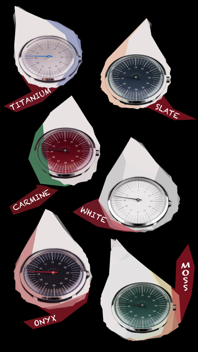 single handed watch colors