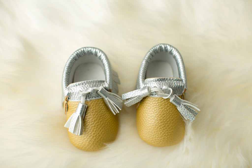 Gold & Silver Tasseled Mocs