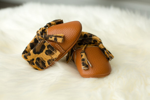 Leopard & Tan Tasseled Mocs