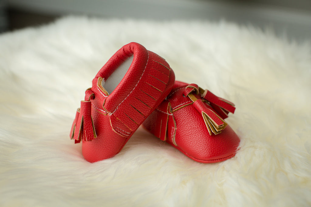 Red Tasseled Mocs