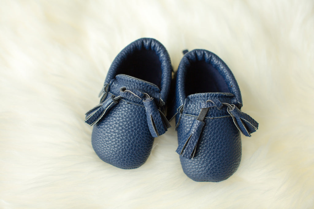 Navy Tasseled Mocs