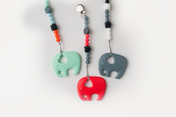 Elephant Teether  (more colors available)