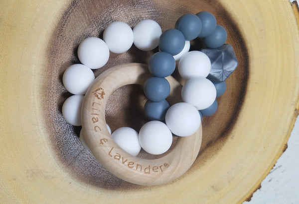 Gray + White Trinity Teether