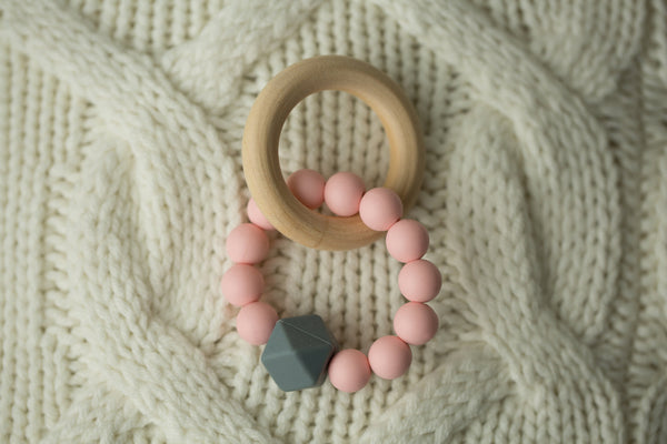 Pink + Grey Teether