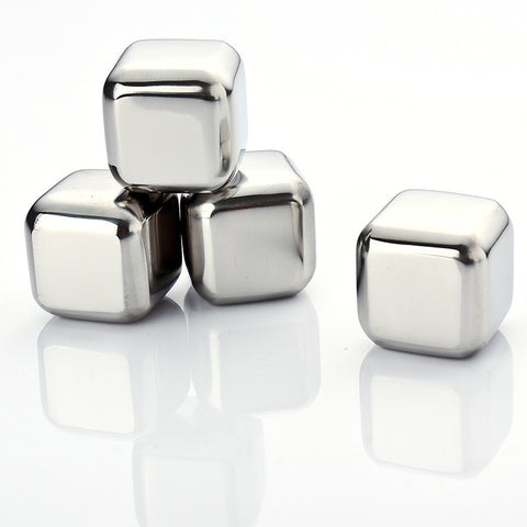 4 pcs Stainless Steel ice cube - World Kitchen Tools - 1