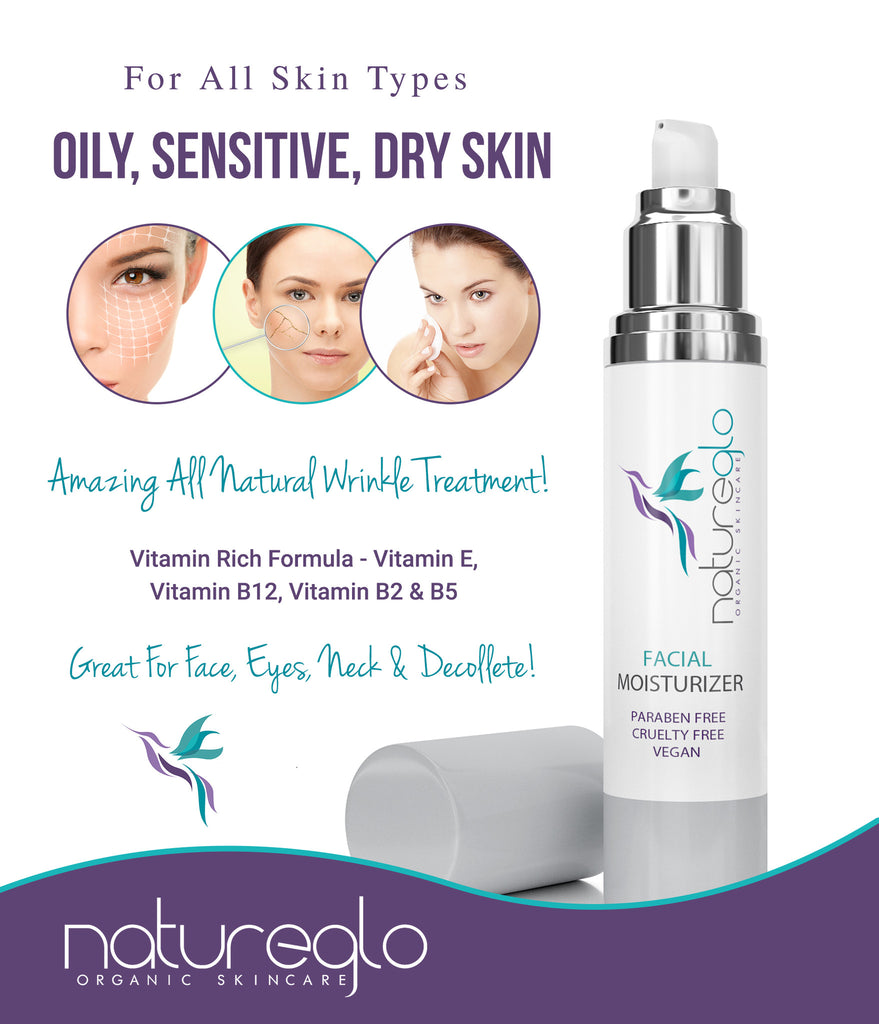 Organic Facial Moisturizer - With Hyaluronic Acid & Hydrolyzed Collagen