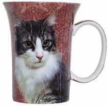 Load image into Gallery viewer, Black & White Cat Crest Mug - McIntosh Shop - 1