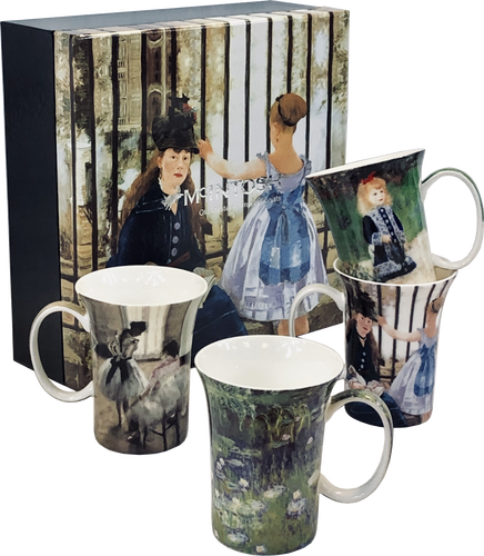 Impressionists set of 4 Mugs