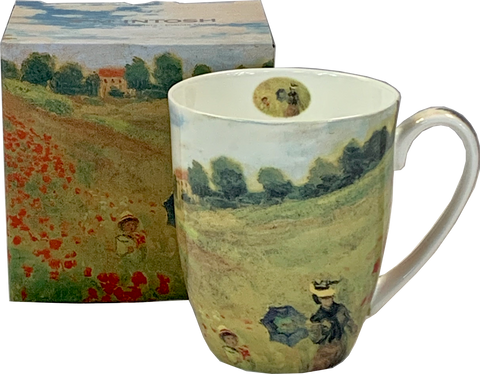 Monet Poppies Mocha Mug