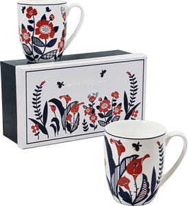 Scandinavian Flowers Mug Pair