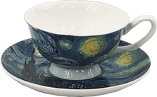 Load image into Gallery viewer, Van Gogh Starry Night Cup & Saucer