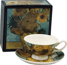Load image into Gallery viewer, Van Gogh Sunflowers Cup & Saucer