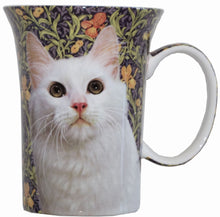 Load image into Gallery viewer, White Cat Crest Mug - McIntosh Shop - 1