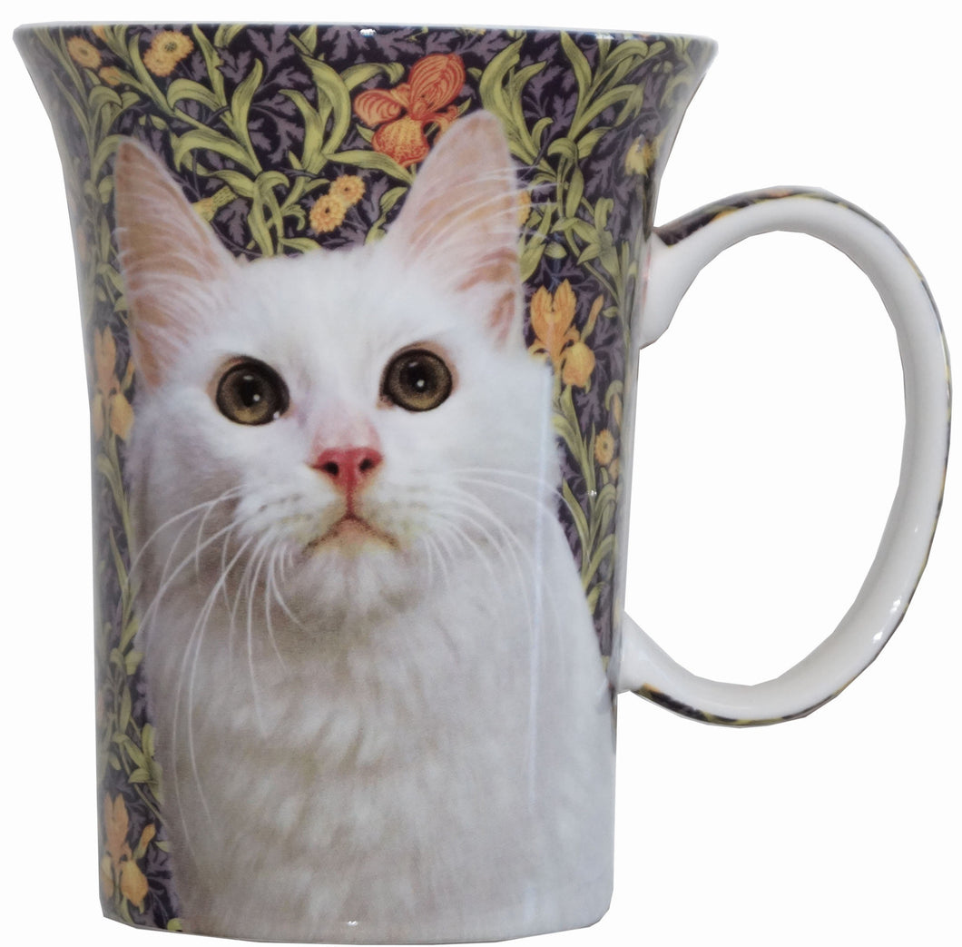 White Cat Crest Mug - McIntosh Shop - 1