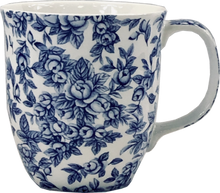Load image into Gallery viewer, Pretty Chintzy Light Blue Roses Java Mug