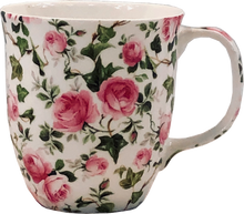 Load image into Gallery viewer, Pretty Chintzy Pink Roses Java Mug
