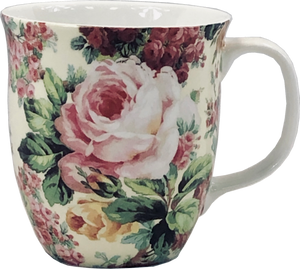 Pretty Chintzy Rose Bouquet Java Mug