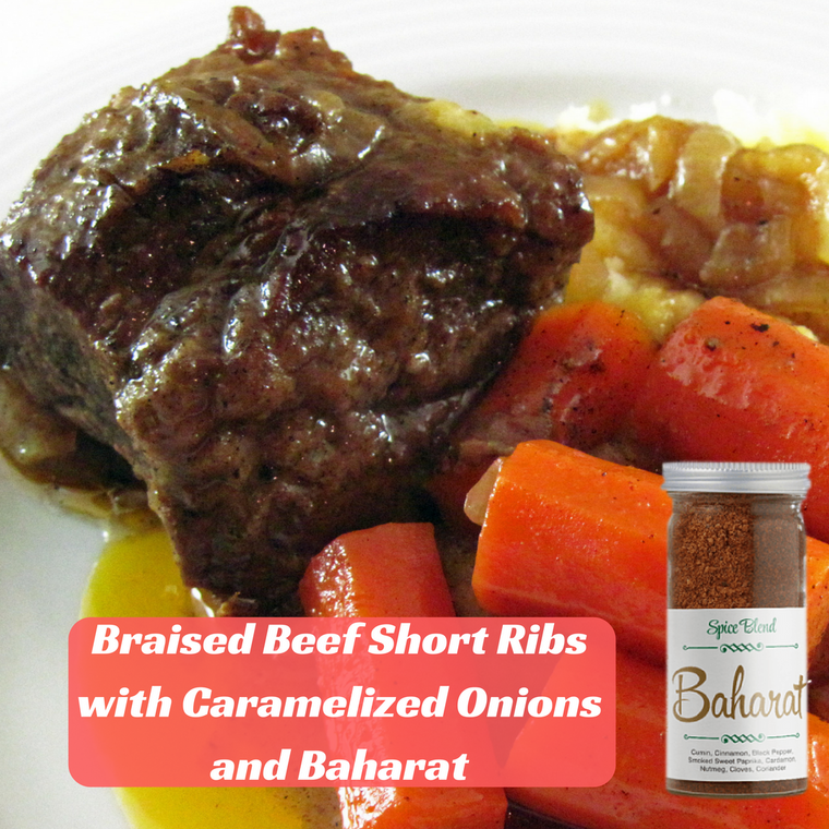 Braised Beef Short Ribs with Caramelized Onions and Baharat