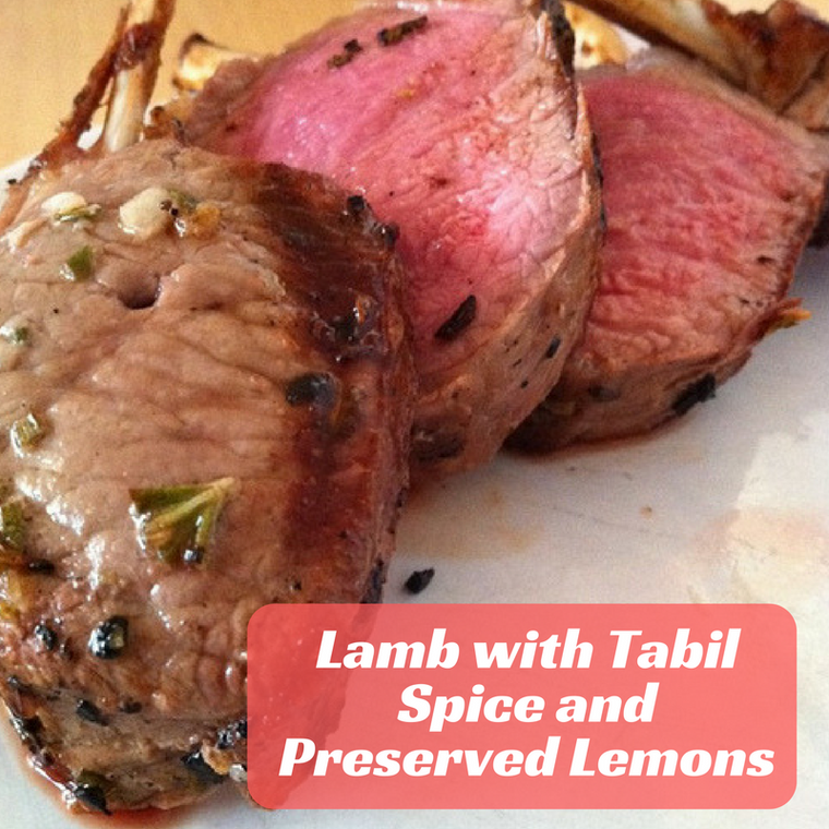 Lamb with Tabil Spice and Preserved Lemons