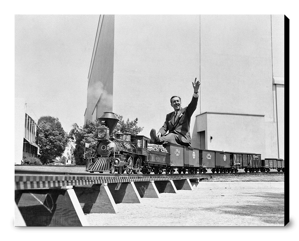 Walt on Miniature Train