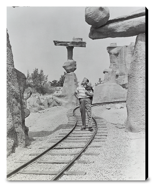 Walt Walking on the Tracks of Rainbow Caverns Mine Train