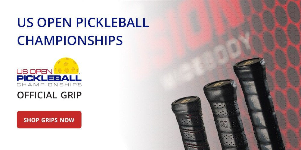 US Open Pickleball Championships Official Grip. SHOP GRIPS NOW