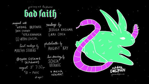 Plasma Dolphin Fundraiser Poster Bad Faith