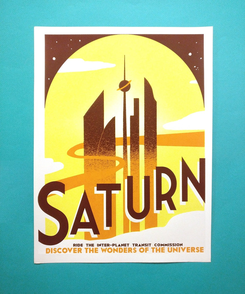 See You on Saturn print by Jackie Lee