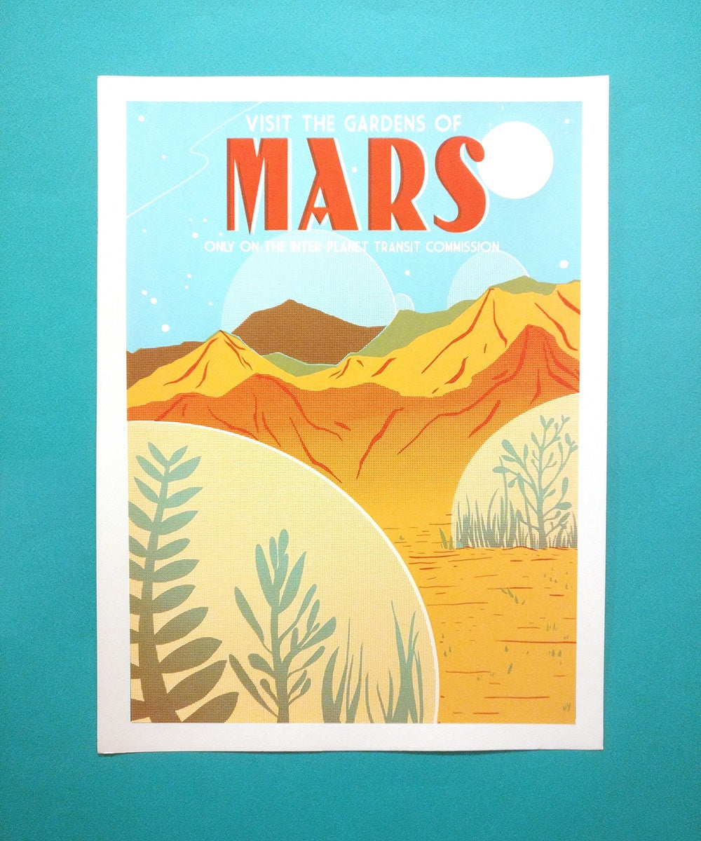 Visit the Gardens of Mars print by Jackie Lee