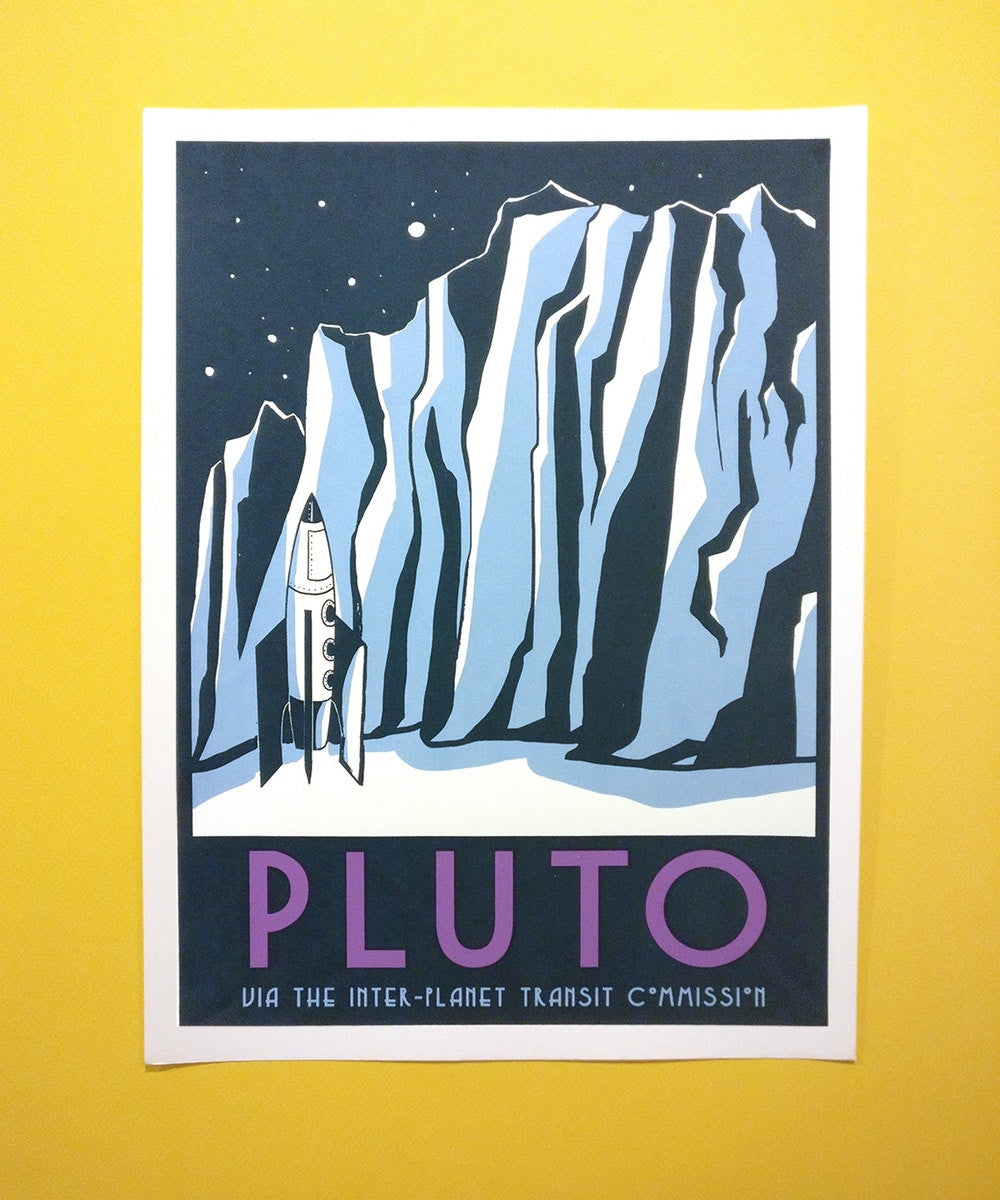 Visit Pluto print by Jackie Lee