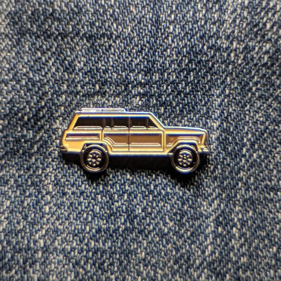 Bearface by BRFC Enamel Pin - 1991 Jeep Grand Wagoneer