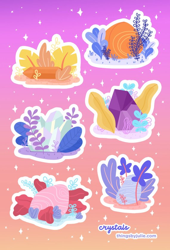 Crystals sticker sheet by Julie Campbell