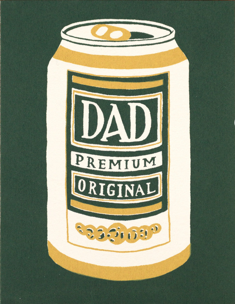 PREMIUM DAD - Screen Printed Birthday or Father's Day Card by Gillian Wilson